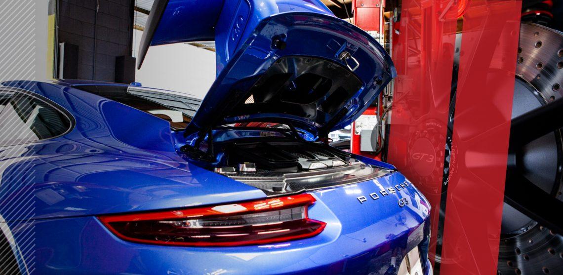 House Automotive Garage Porsche back engine