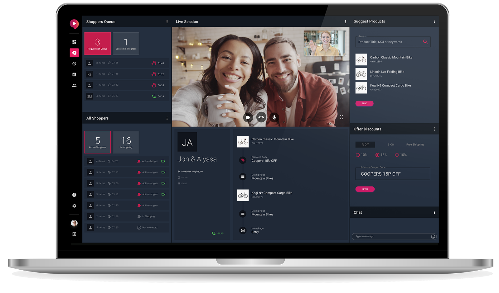 Uptok workspace for salespeople