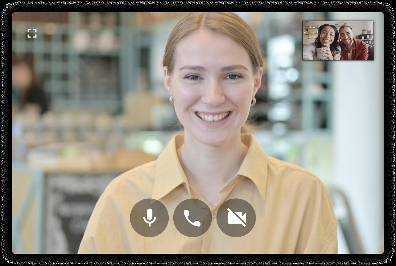 Salesperson serving shoppers on Uptok video shopping platform
