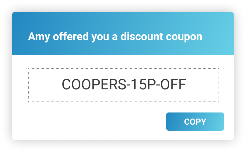 Shopper gets an exclusive discount code on Uptok, ready to redeem on Shopify