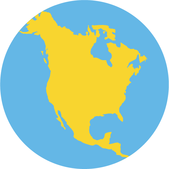 Illustration of North America by Lucas Bell Graphic Designer Victoria Bc