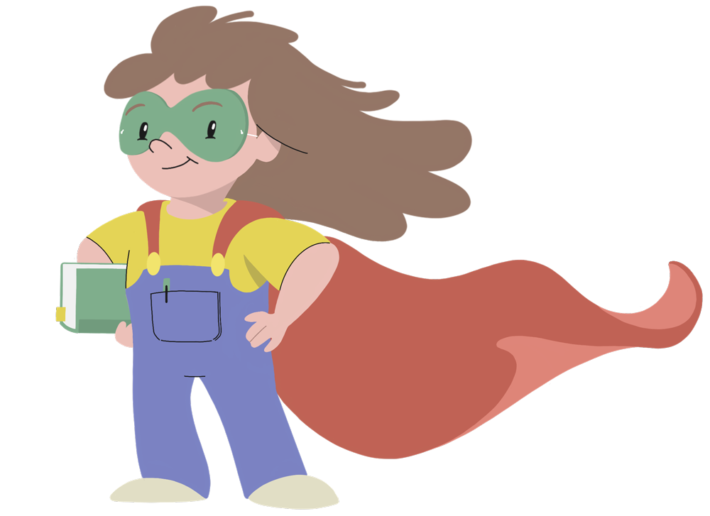 Super Girl Character Design for Joyful Literacy Online
