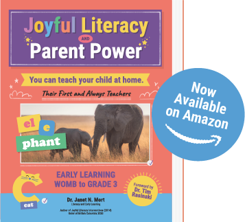 Book Cover Design for Joyful Literacy and Parent Power Book by Janet Mort Now Available on Amazon