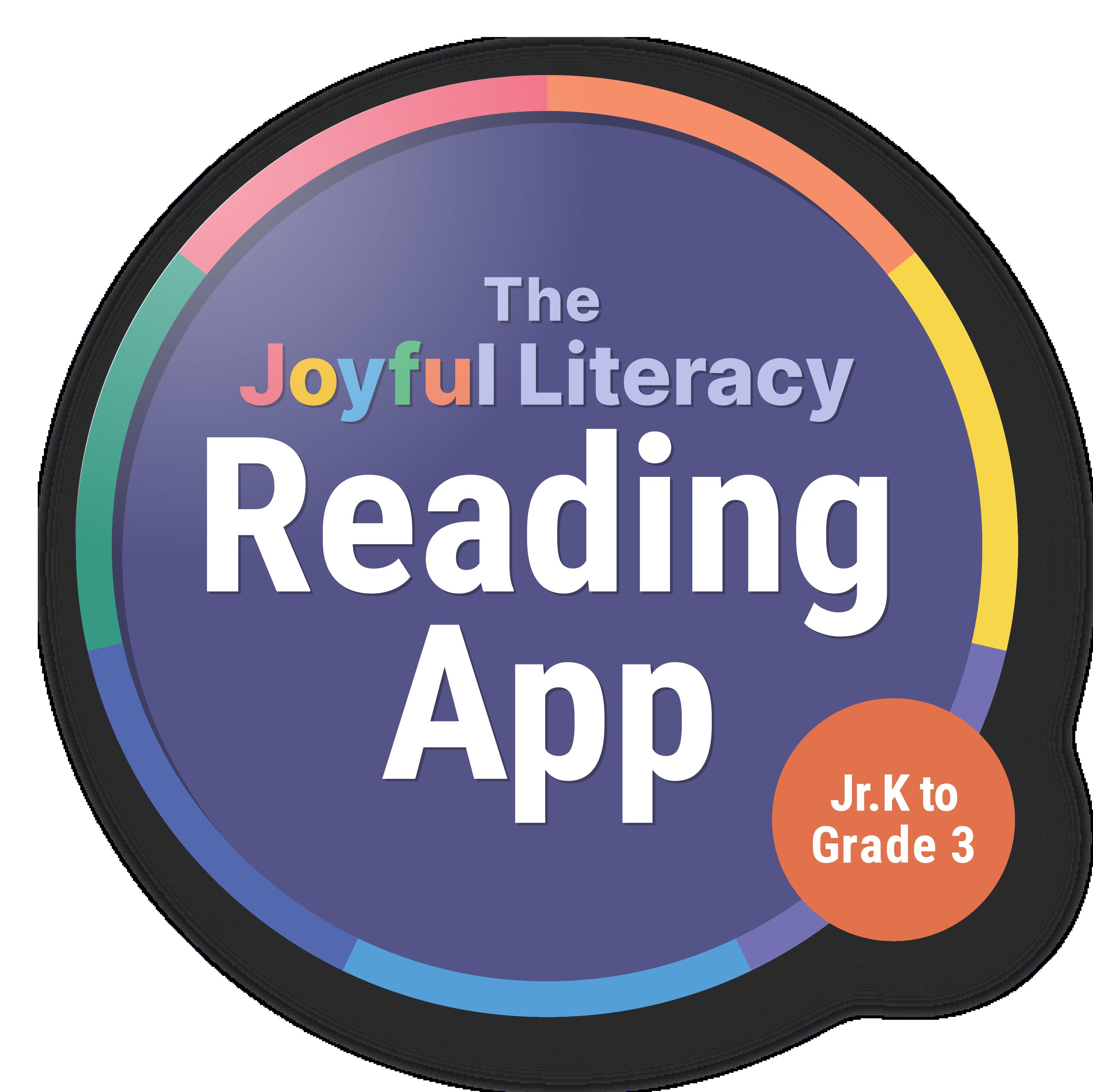 Logo design for joyful literacy's reading app