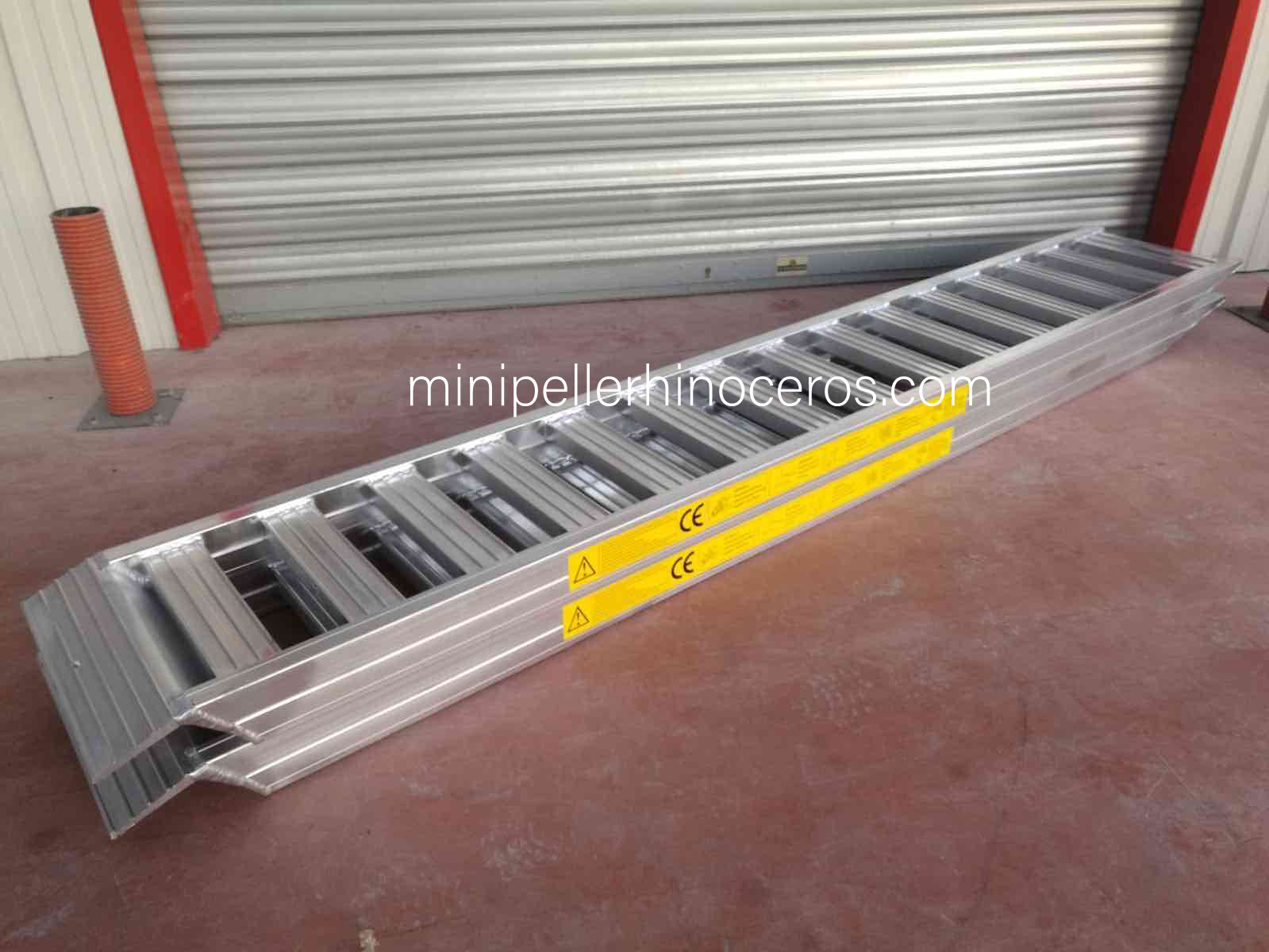 Aluminium ramps for heavy loads