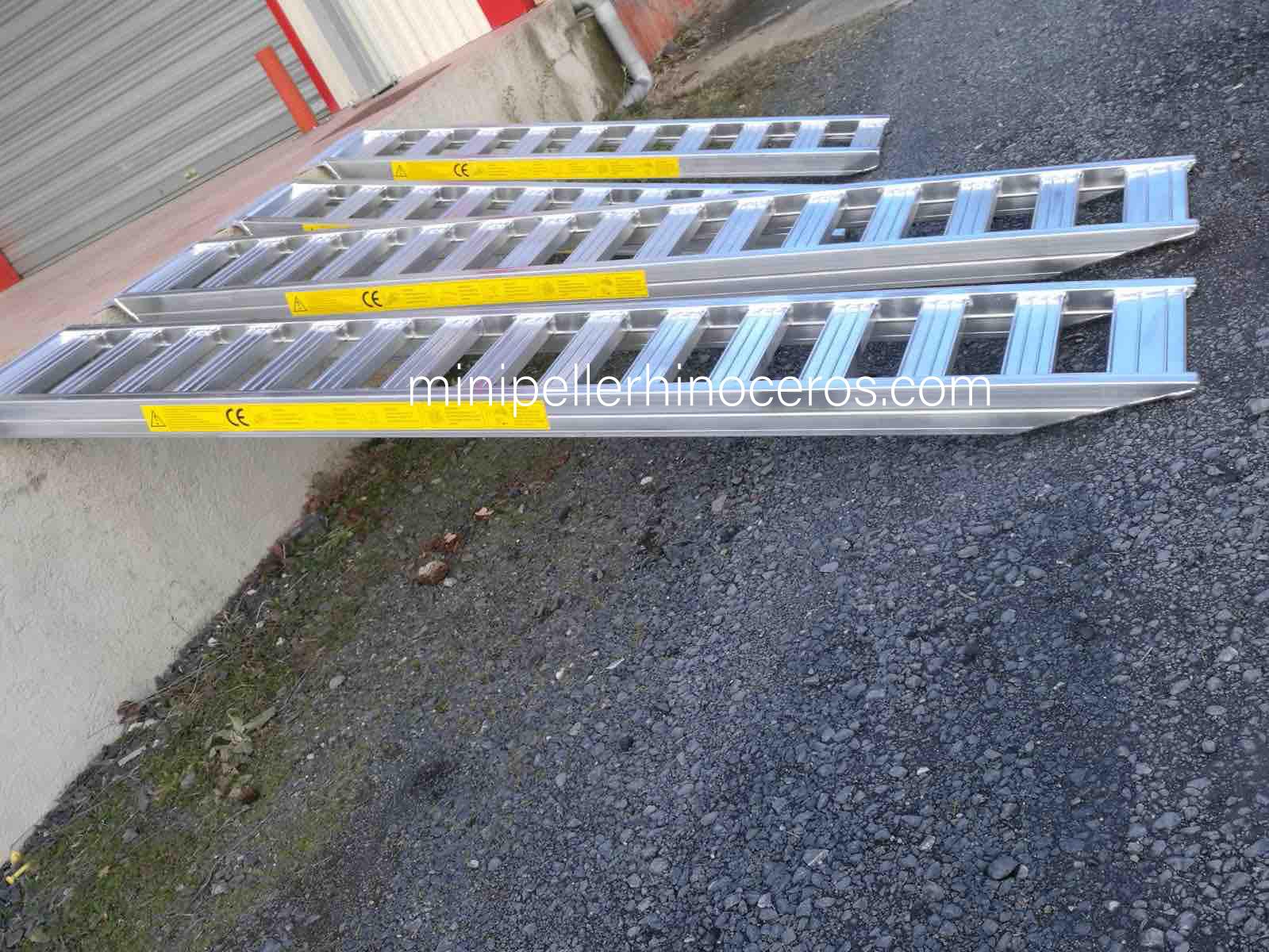 Beispiel für Aluminiumrampen für schwere Lasten