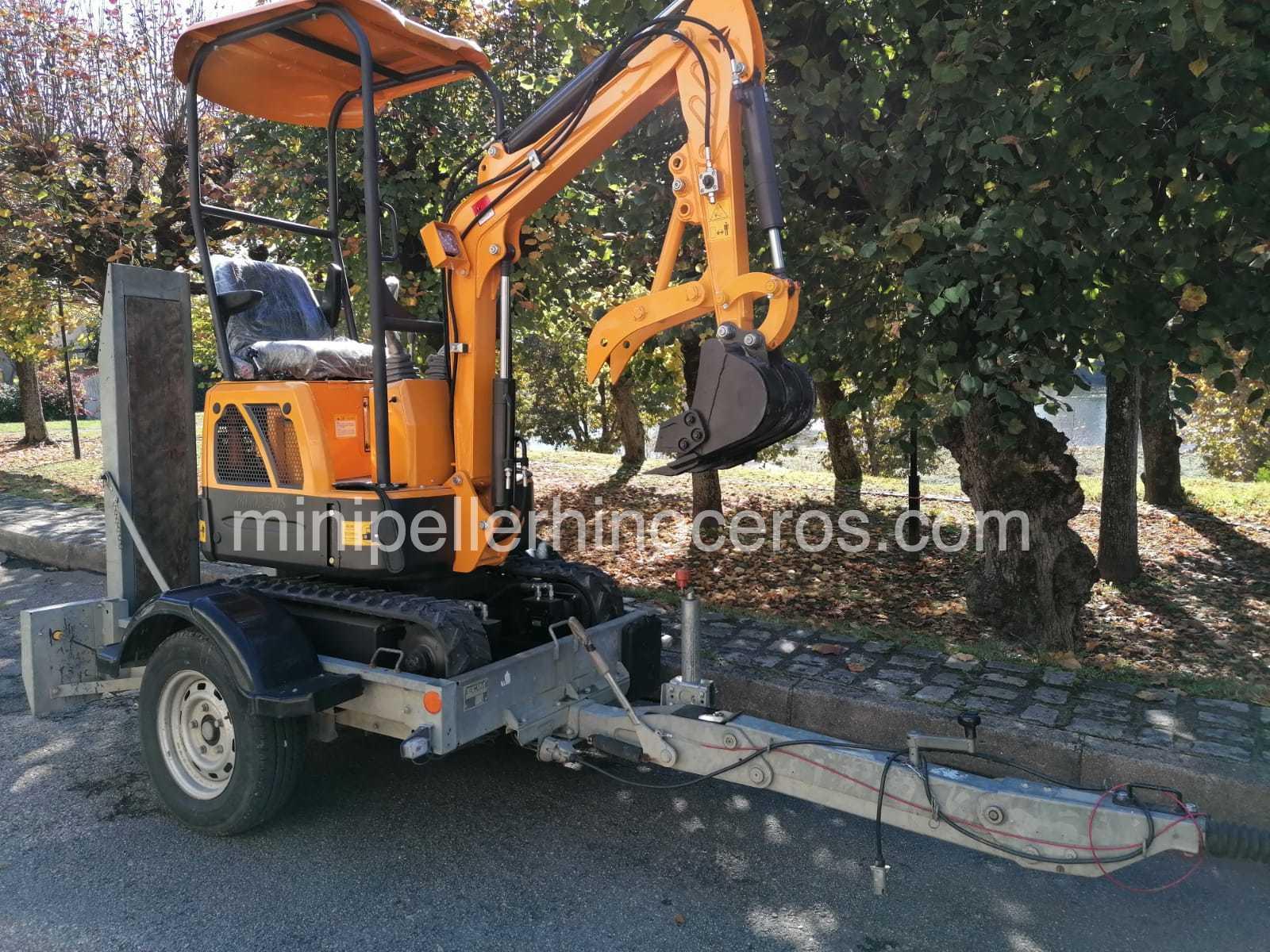 How do I load my Mini Excavator?