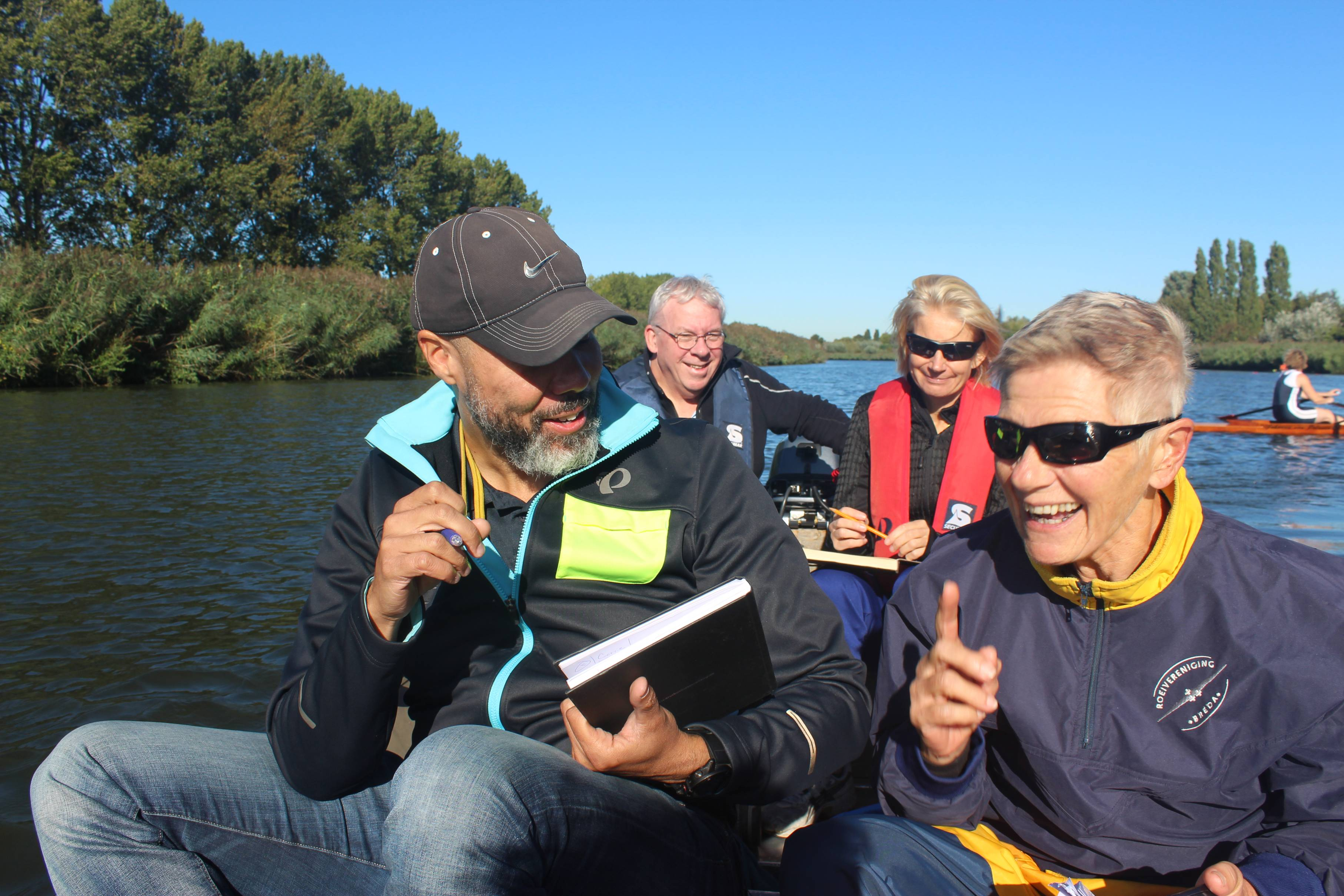 RV Breda hired professional coach Brock Sampson from RoBox to teach a series of on-water clinics