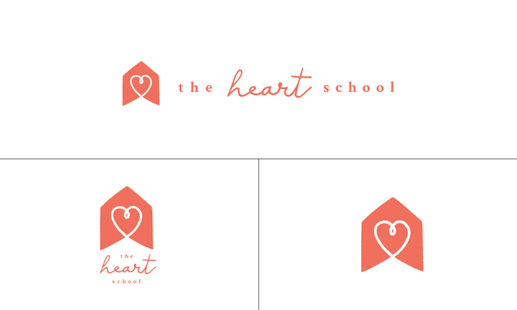 The new and improved logo suite for The Heart School