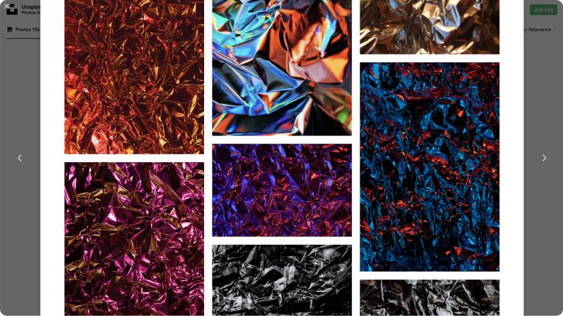 screenshot of textured images on Unsplash