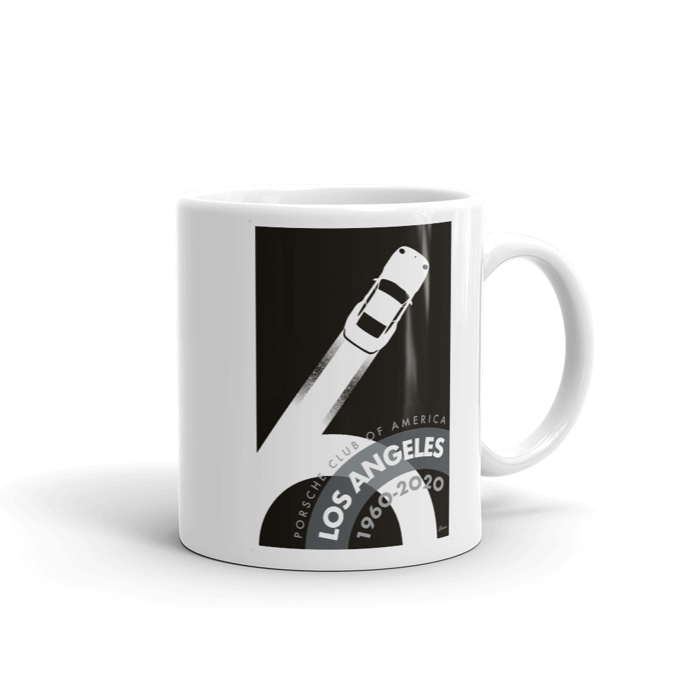 Porsche Club LA 60th Anniv. Limited Edition Mug, 1990s Edition