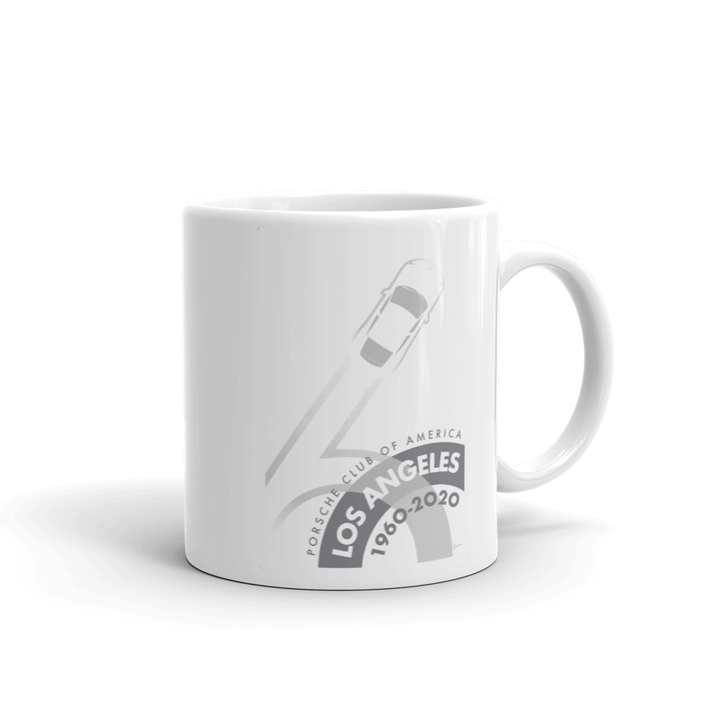 Porsche Club LA 60th Anniv. Limited Edition Mug, 2020s Edition