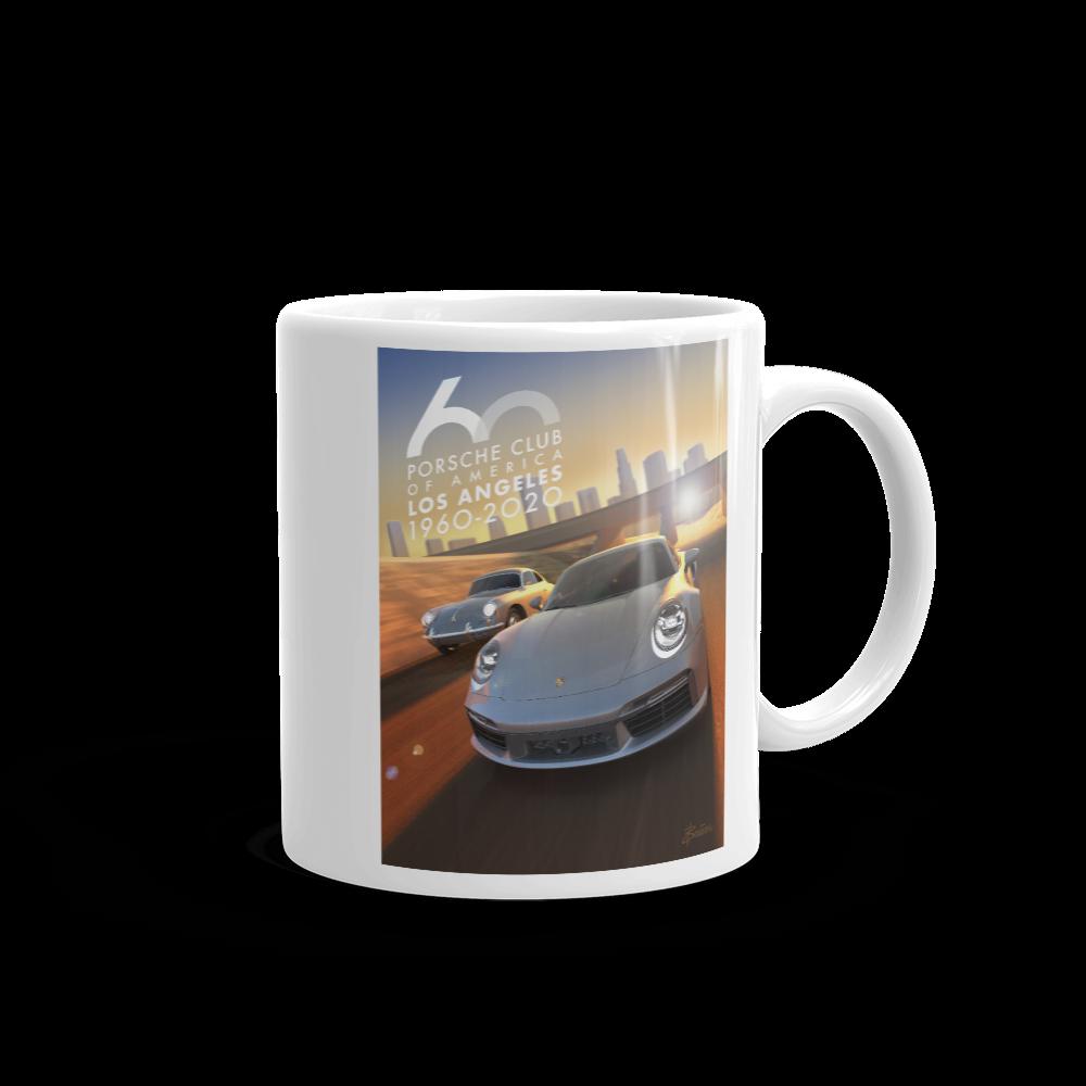Porsche Club LA 60th Anniv. Limited Edition Mug, Generations