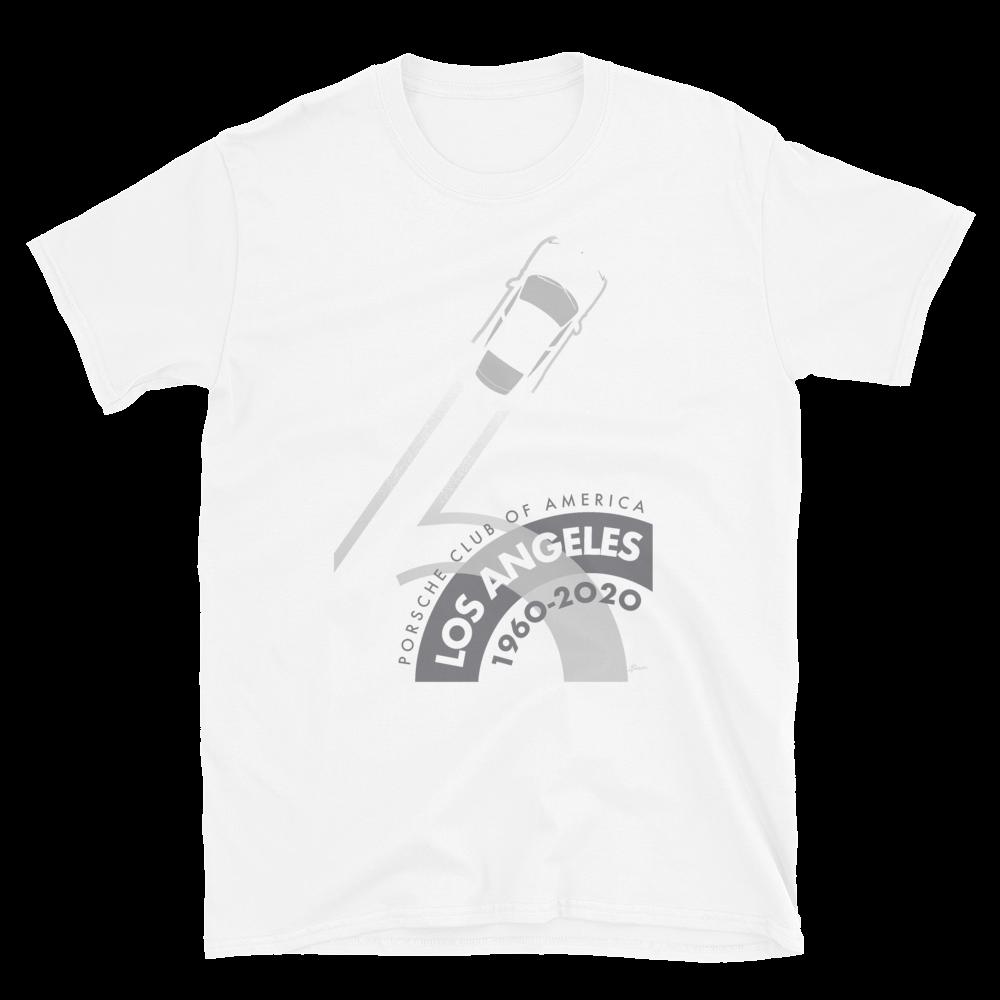 Porsche Club LA 60th Anniv. Limited Edition Sleeve Unisex T-Shirt 2020