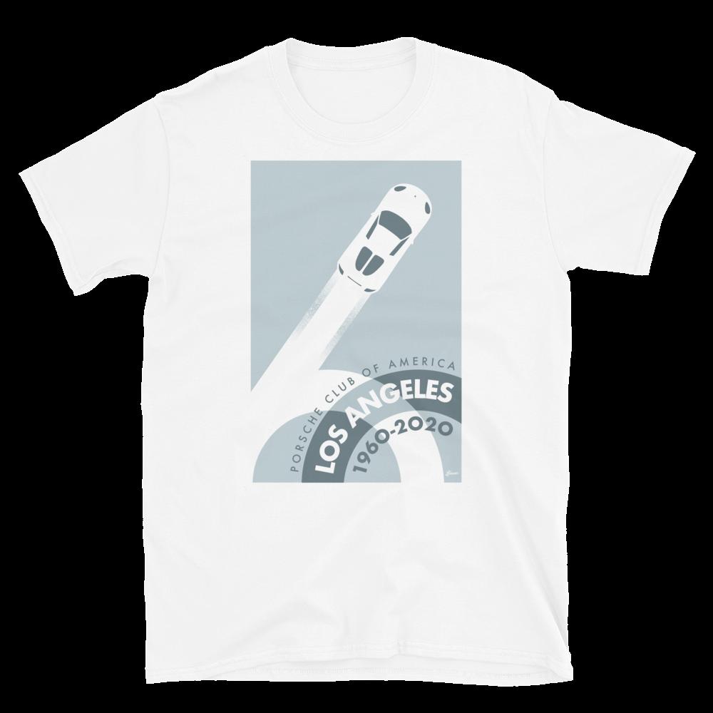 Porsche Club LA 60th Anniv. Limited Edition Short-Sleeve Unisex T-Shirt 2000s