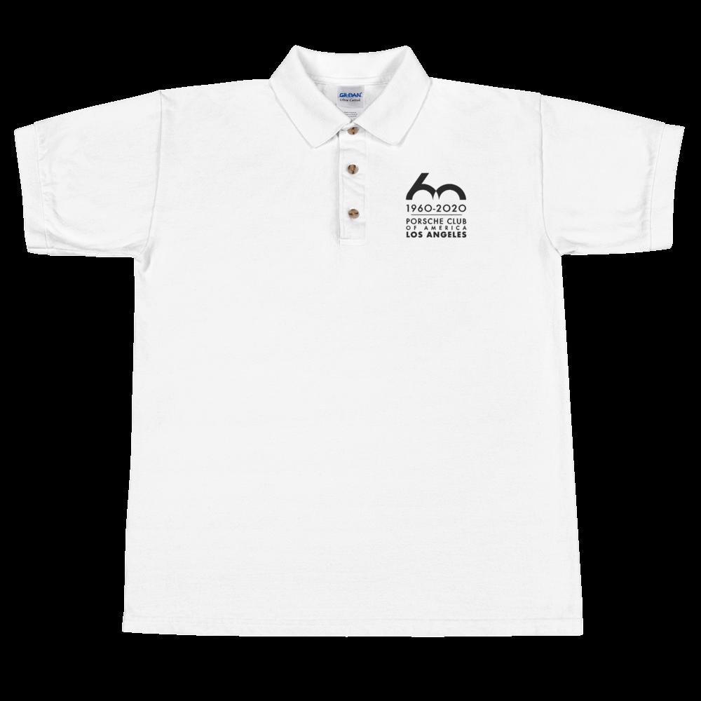 Porsche Club LA 60th Anniv. Limited Edition Embroidered Polo Shirt