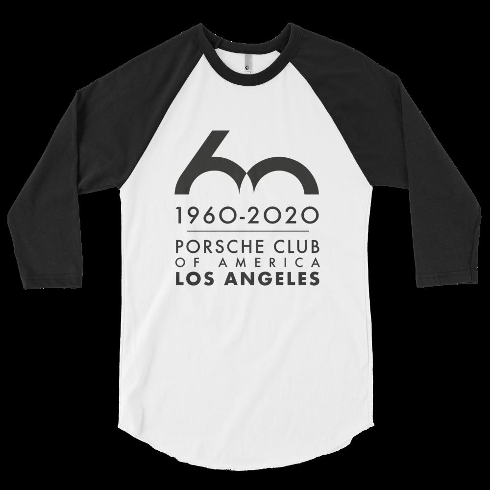 Porsche Club LA 60th Anniv. Limited Edition 3/4 Sleeve Shirt