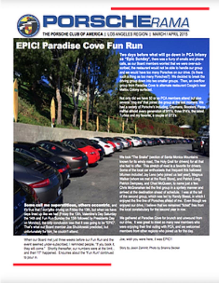 The Paradise Cove Fun Run