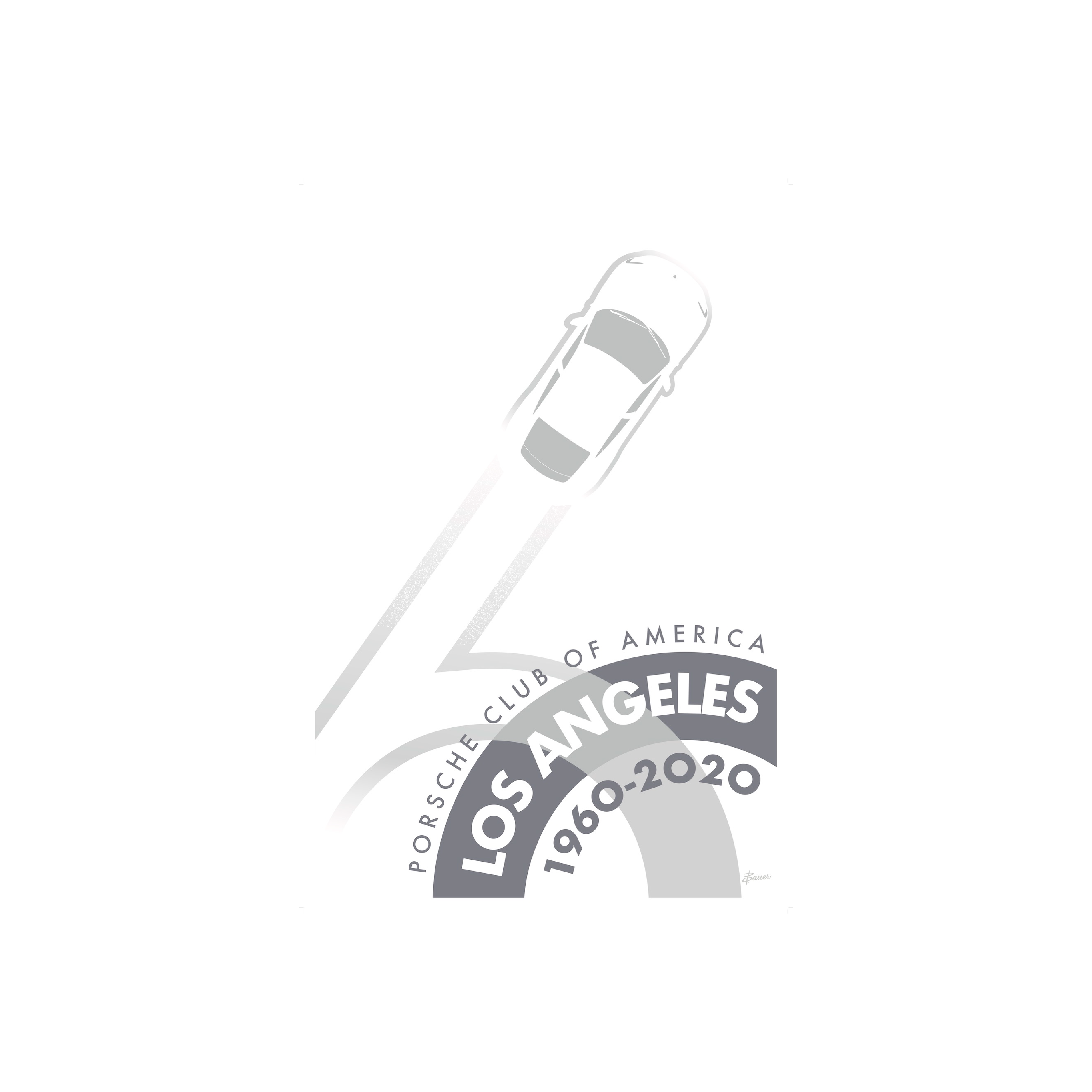 Porsche Club LA 60th Anniv. Limited Edition, 2020 Edition Decal