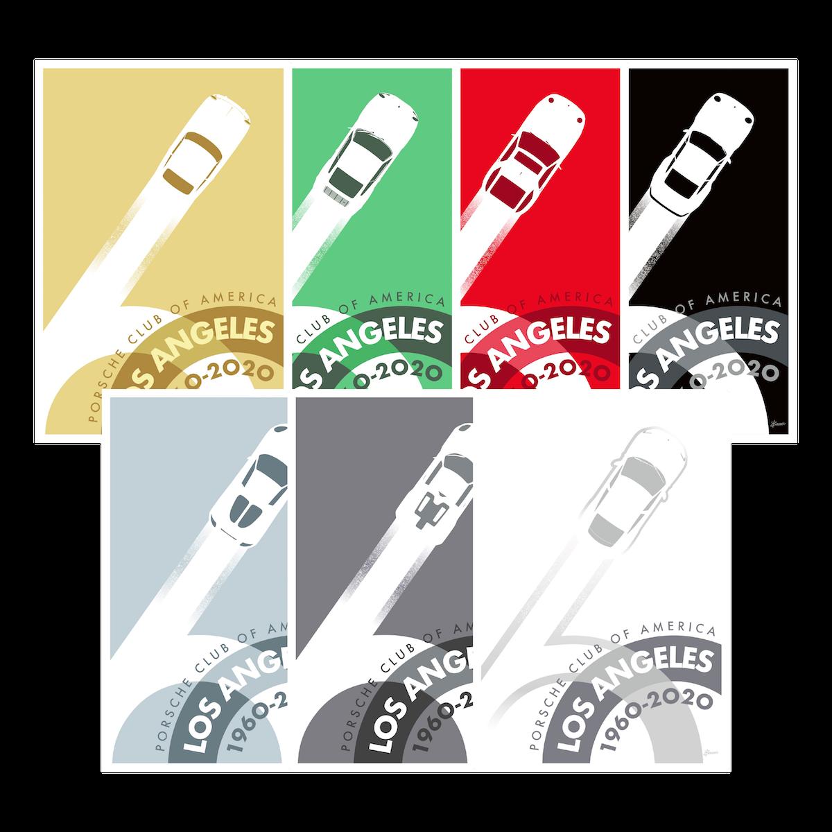 Porsche Club LA 60th Anniv. Limited Edition Decades Decal Set