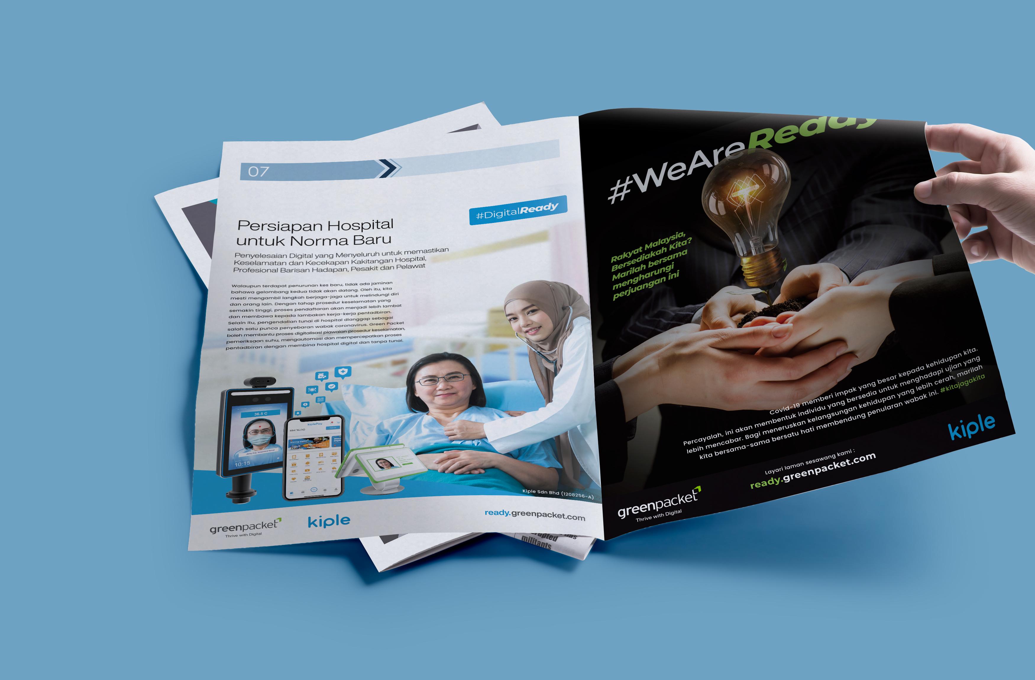 TenCaveMen Portfolio GreenPacket Press Ads