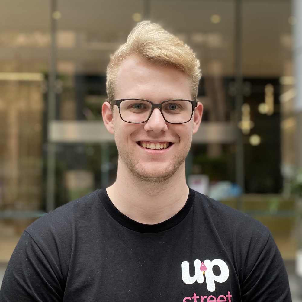 Photograph of one of Upstreet's Software Engineer, Toby Laidlaw
