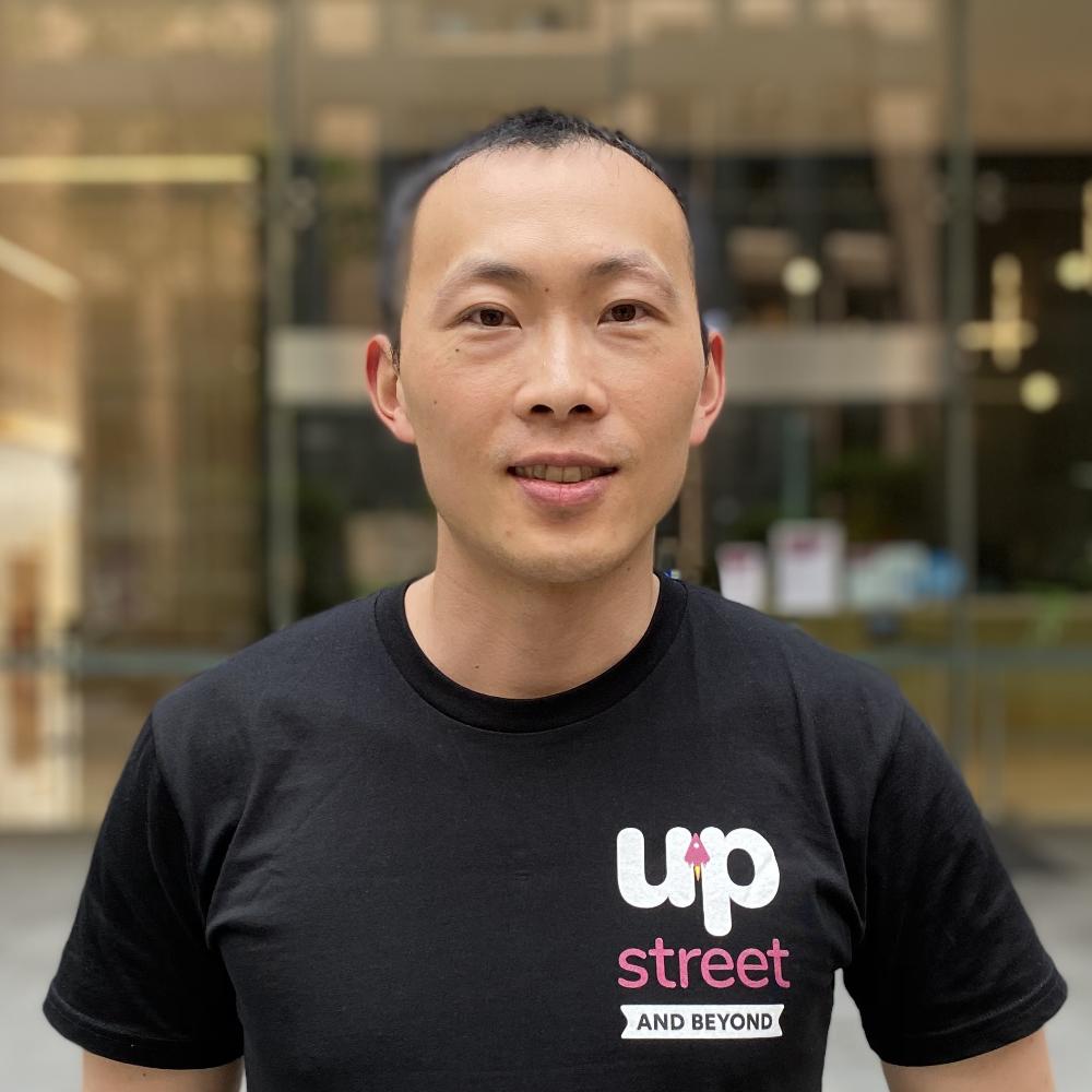 Photograph of Upstreet's Lead Developer, Sean Zhu