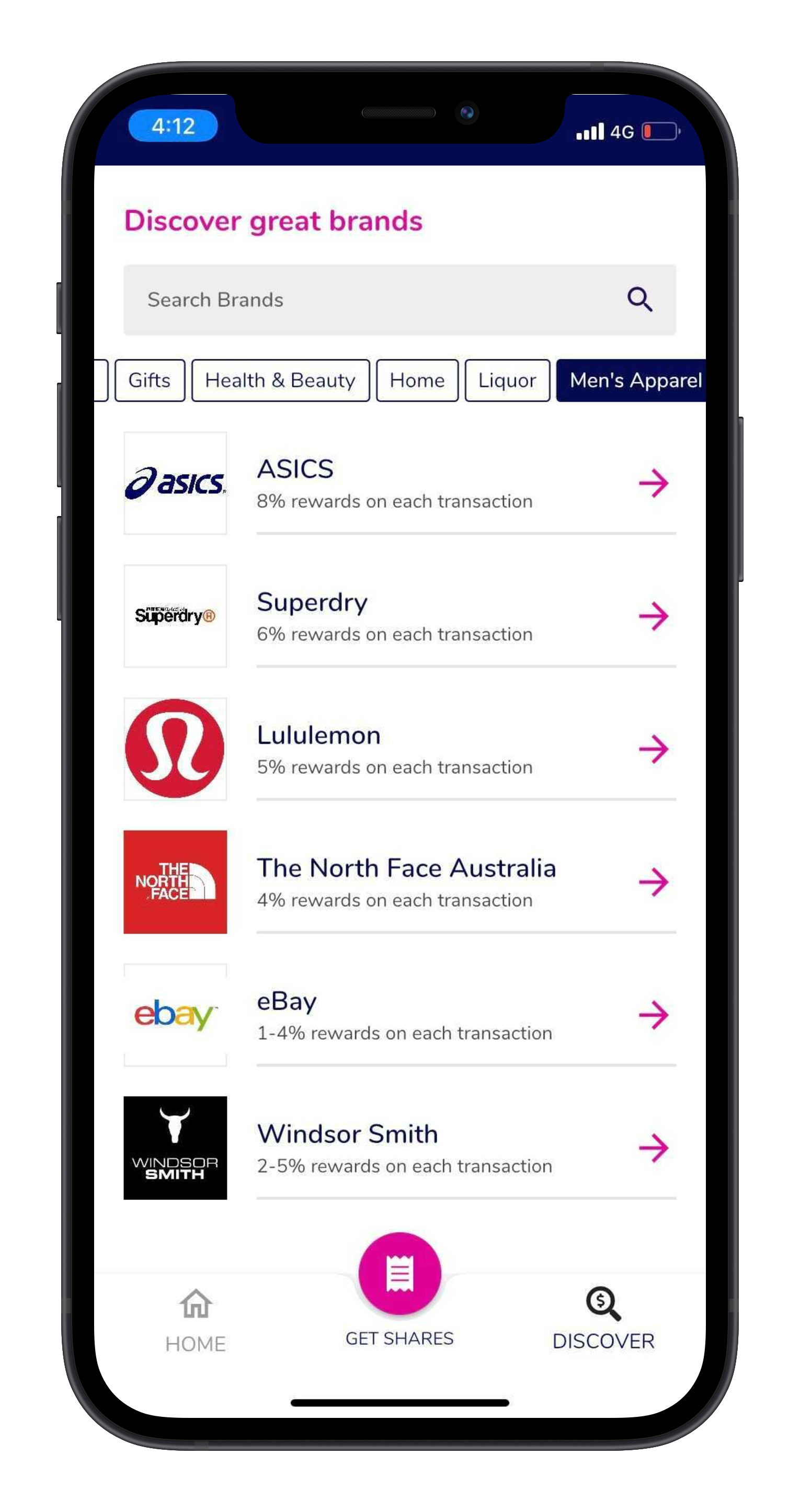 Discover page showcasing all onboarded brands on the Upstreet App