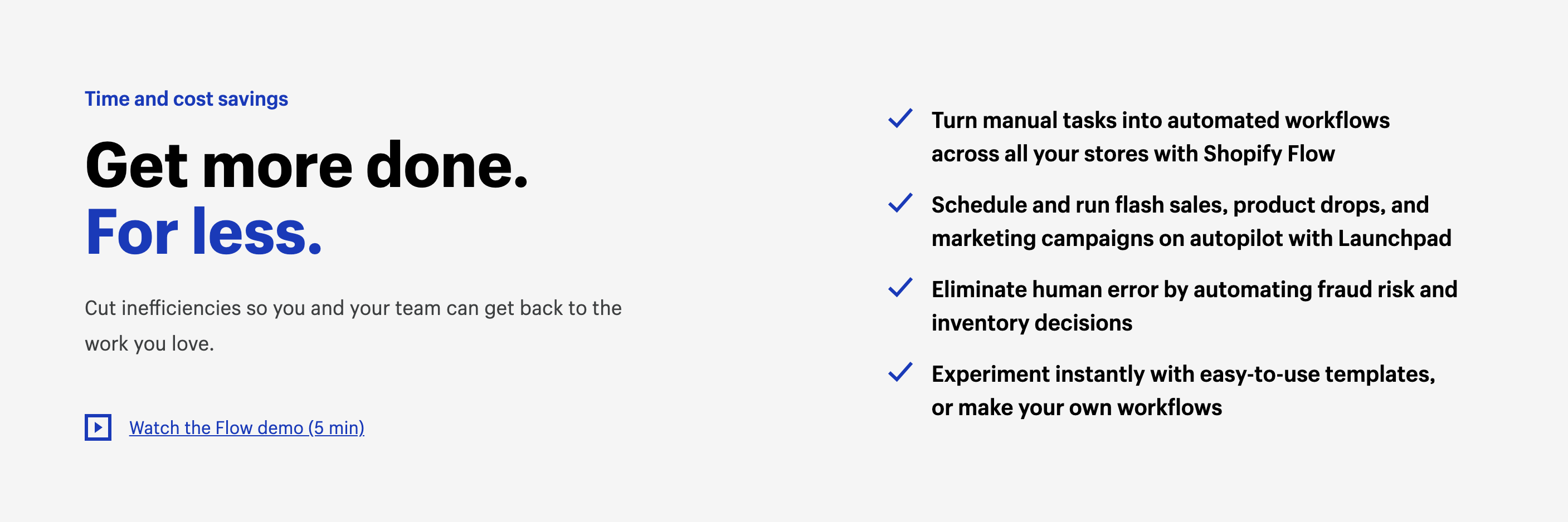 Benefits of Shopify Flow