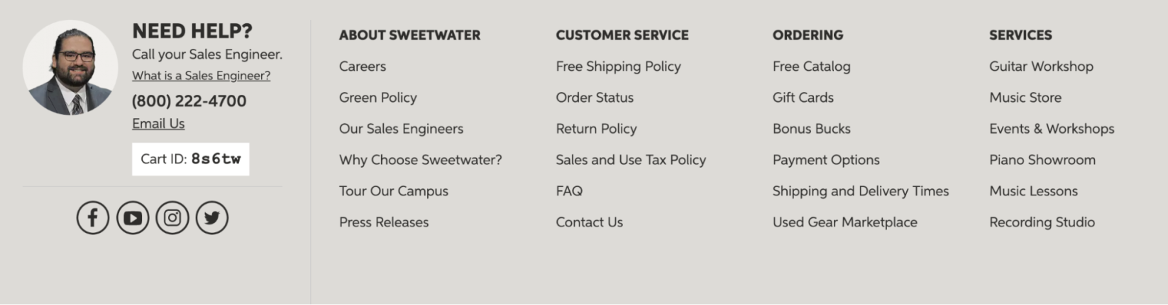 Sweetwater's personalised followups