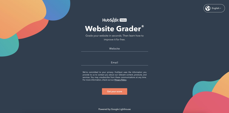 HubSpot's Website Grader