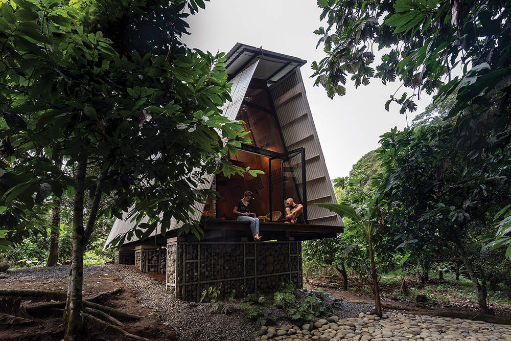 Recyclable and Adaptable Jungle Cabin