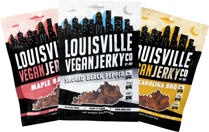 Maple Bacon, Smoked Black Pepper and Smoky Carolina BBQ Jerky Bags