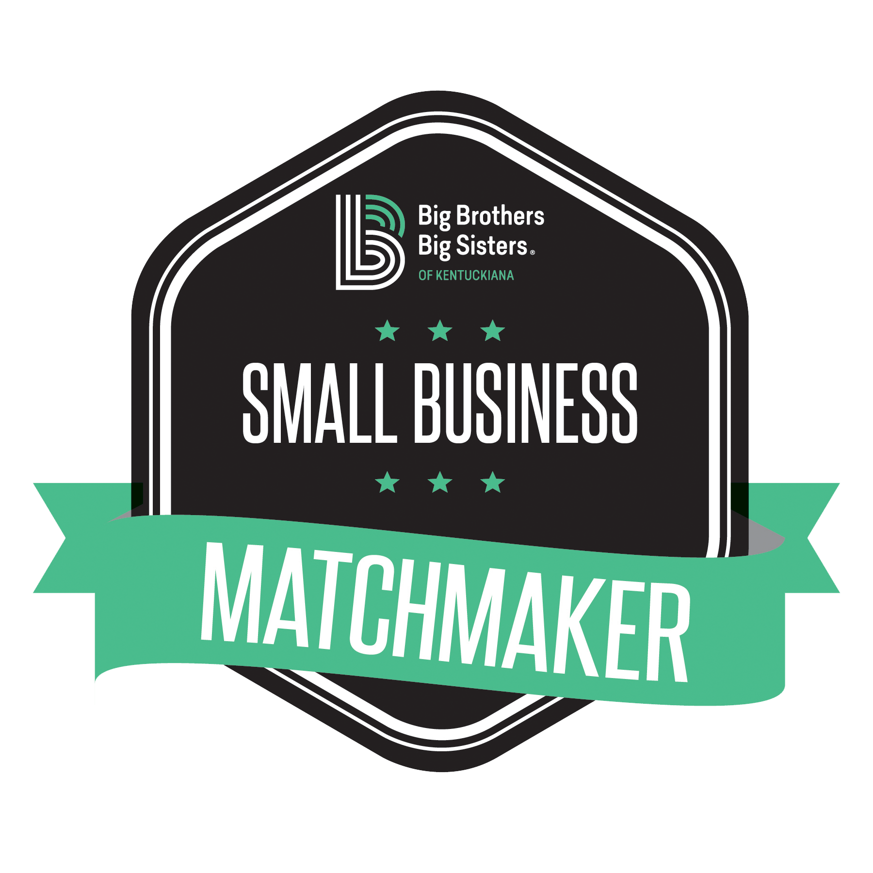 Big Brothers Big Sisters Small business Match Maker Badge