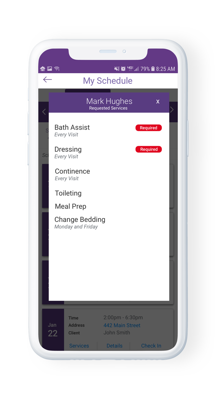 AssuriCare Mobile App - Services needed