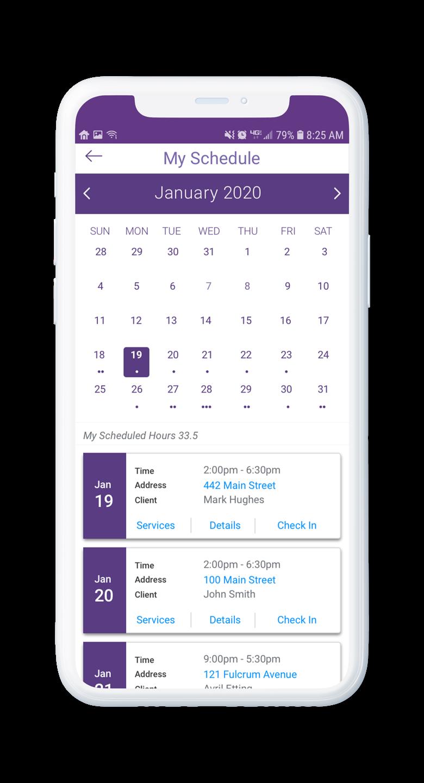 AssuriCare Mobile App - Caregiver Schedule edit visit details