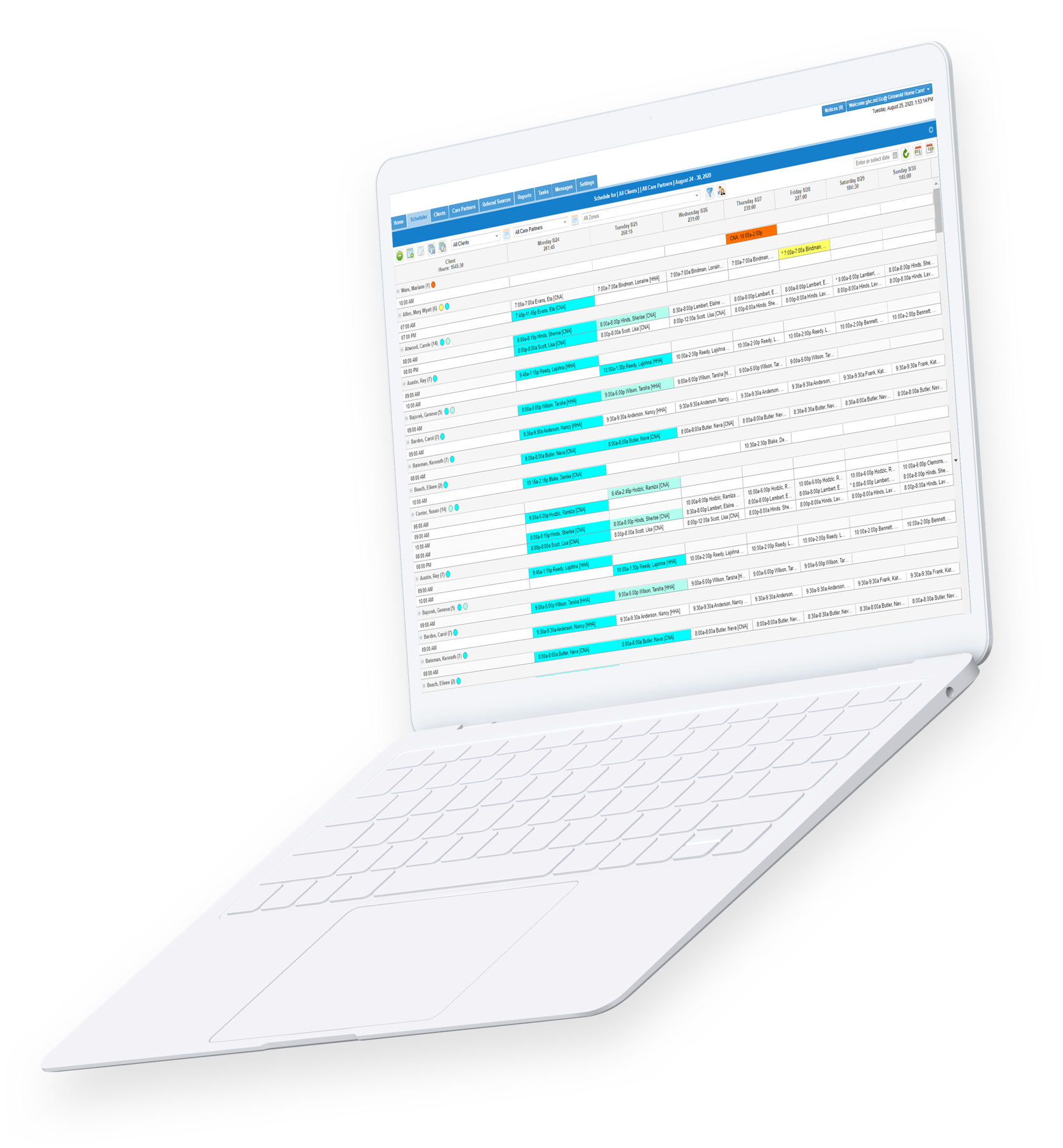 AssuriCare's platform provides simplified scheduling and data that you can actually use.