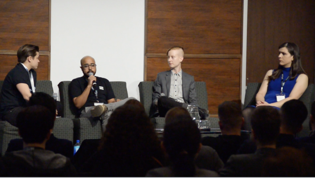 Panel discussion on inclusivity in the workplace at the 2018 Venture Out Conference.