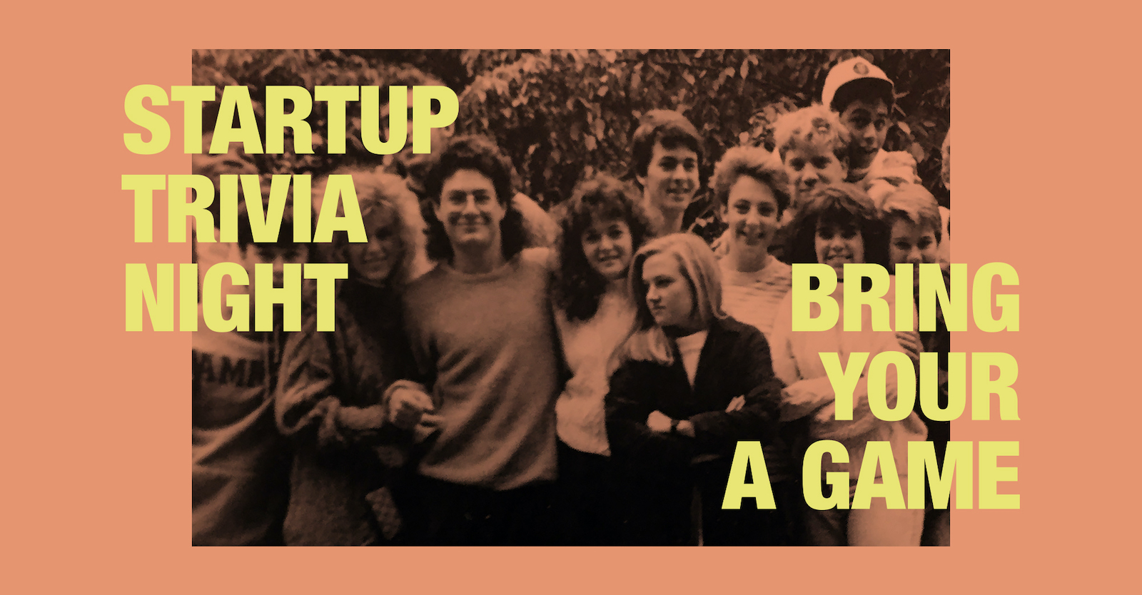 Startup Trivia night promotional graphics