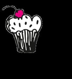 Babeczka przy nagłówku serniki i ciasta