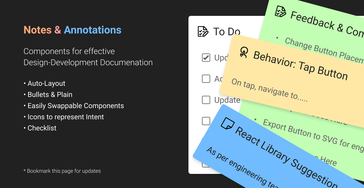 Annotation and notes community file for Figma