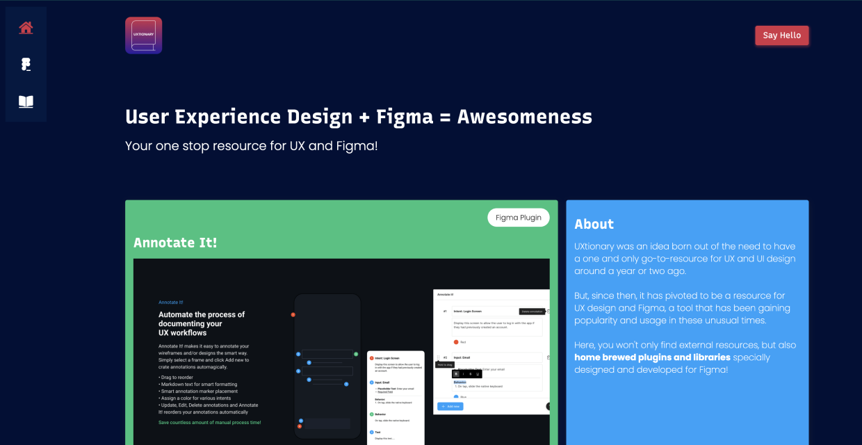UXtionary - Resource for UX and Figma