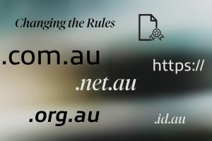 .au Domain Name rule changes