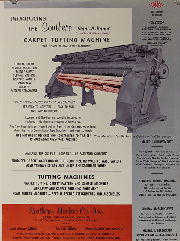Carpet Tufting Machine Slant-a-rama