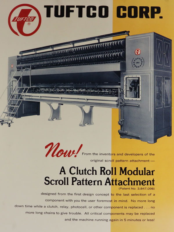 clutch roll modular scroll pattern attachment