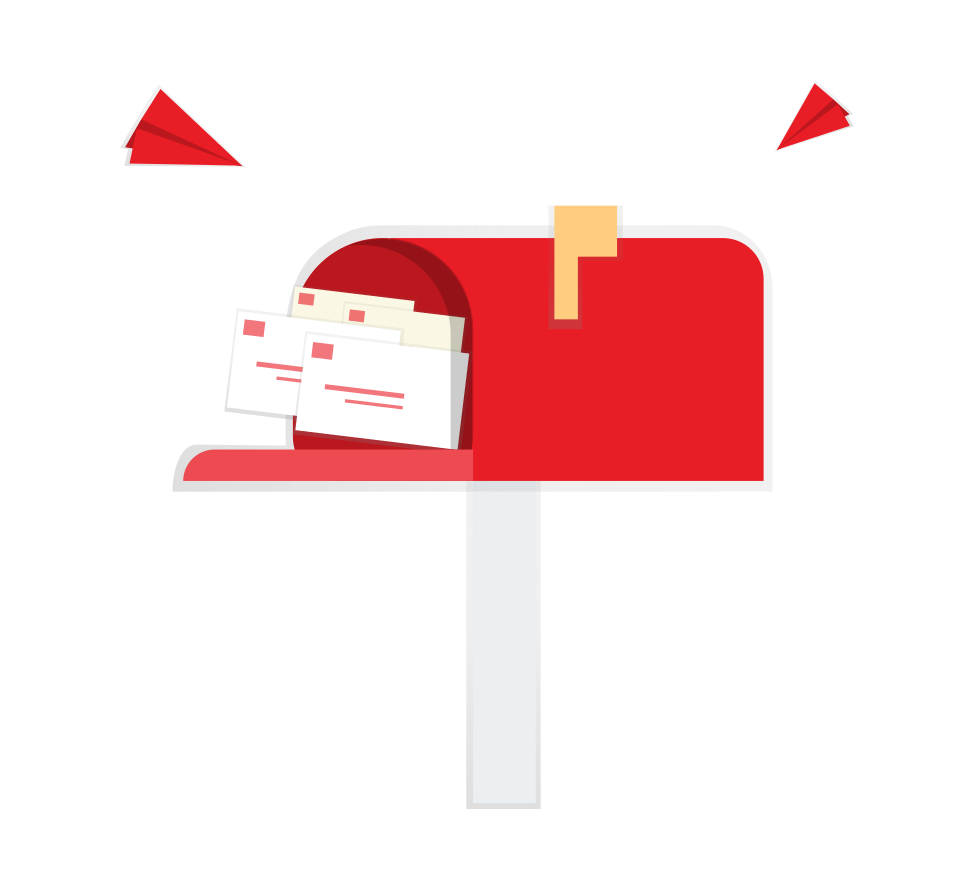 Mailbox filled with letters