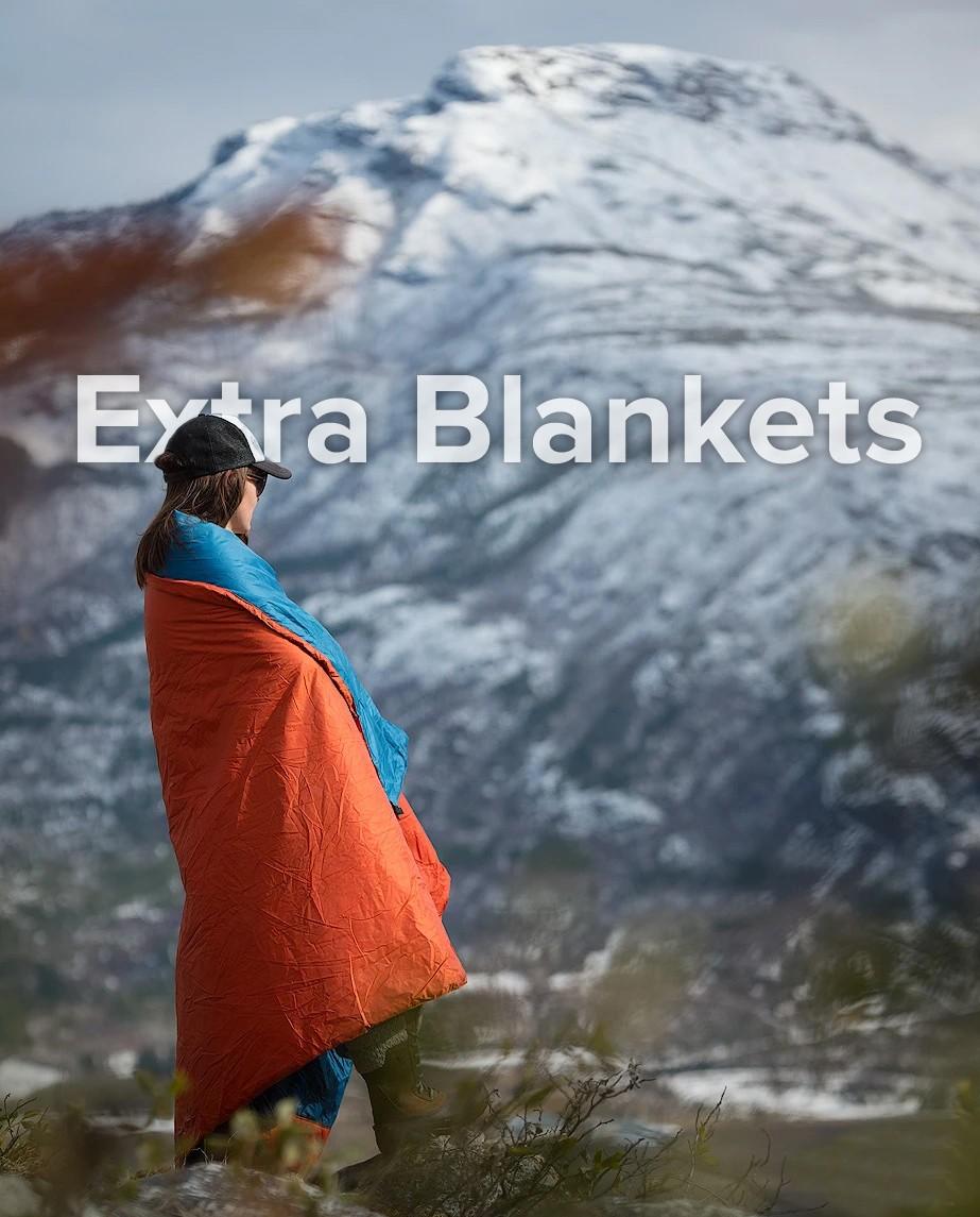 Woman wearing blanket