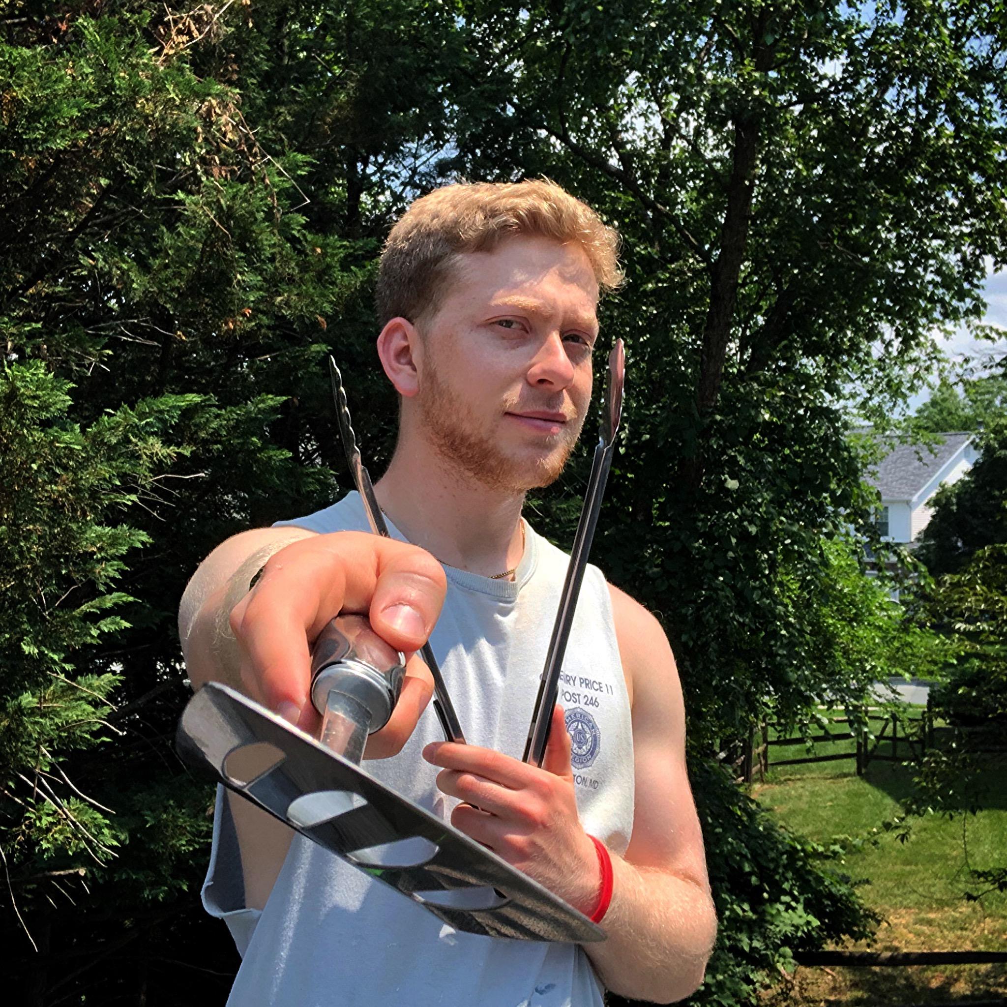 Myself holding a Spatula