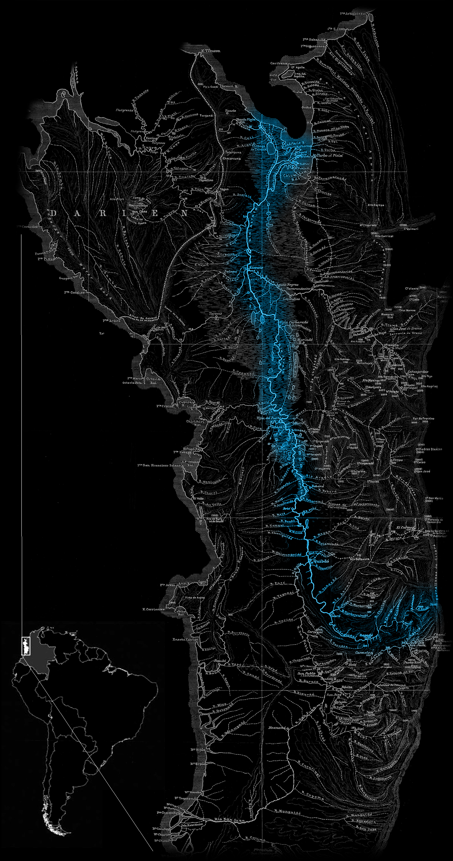 Atrato river map