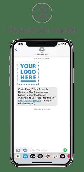 Text message screen